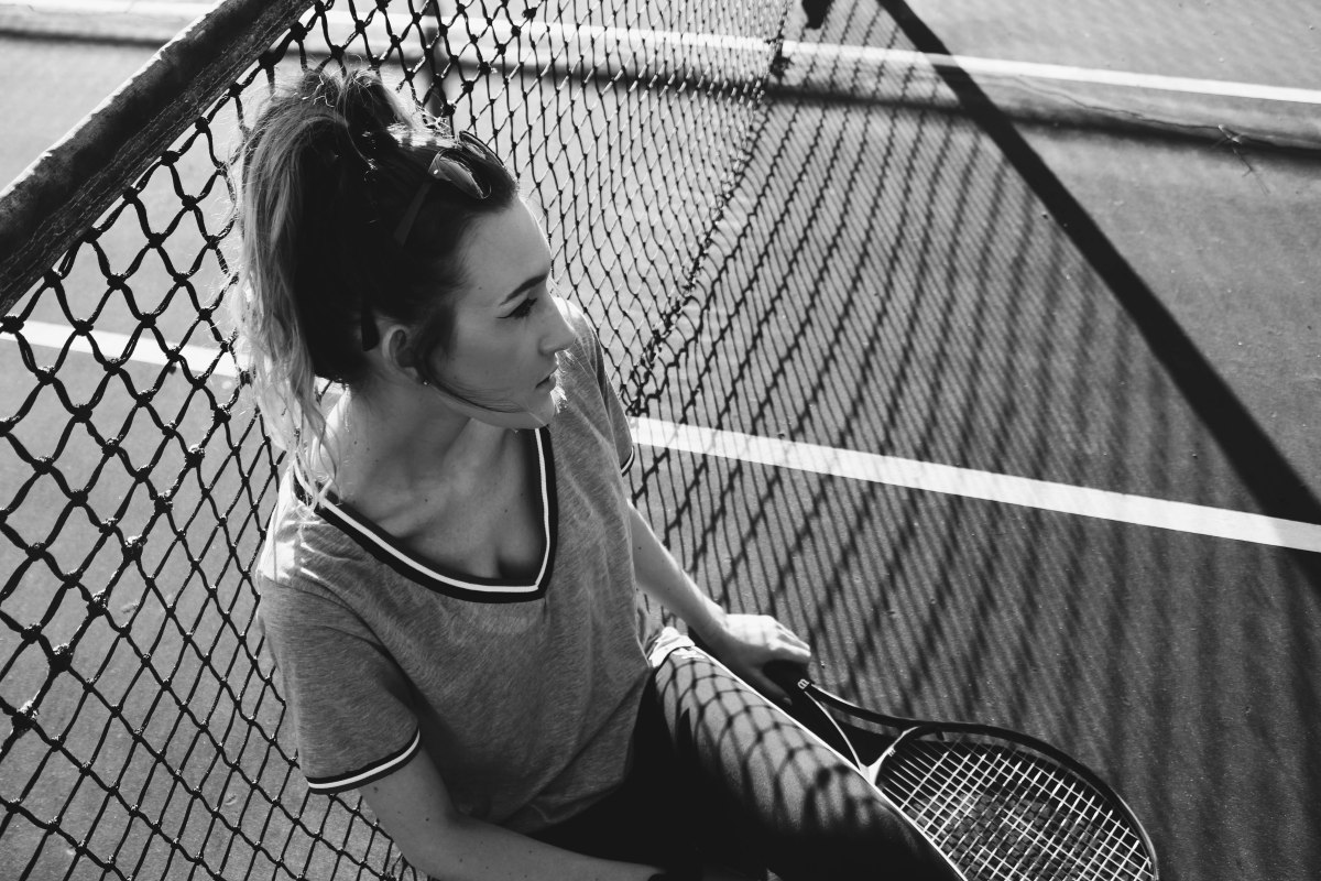 Tennis Court Blues: Photoshoot Fun